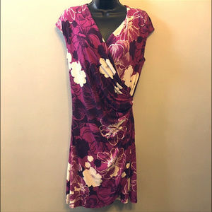 Tommy Bahama Tambour Faux Wrap Dress-Floral-Med